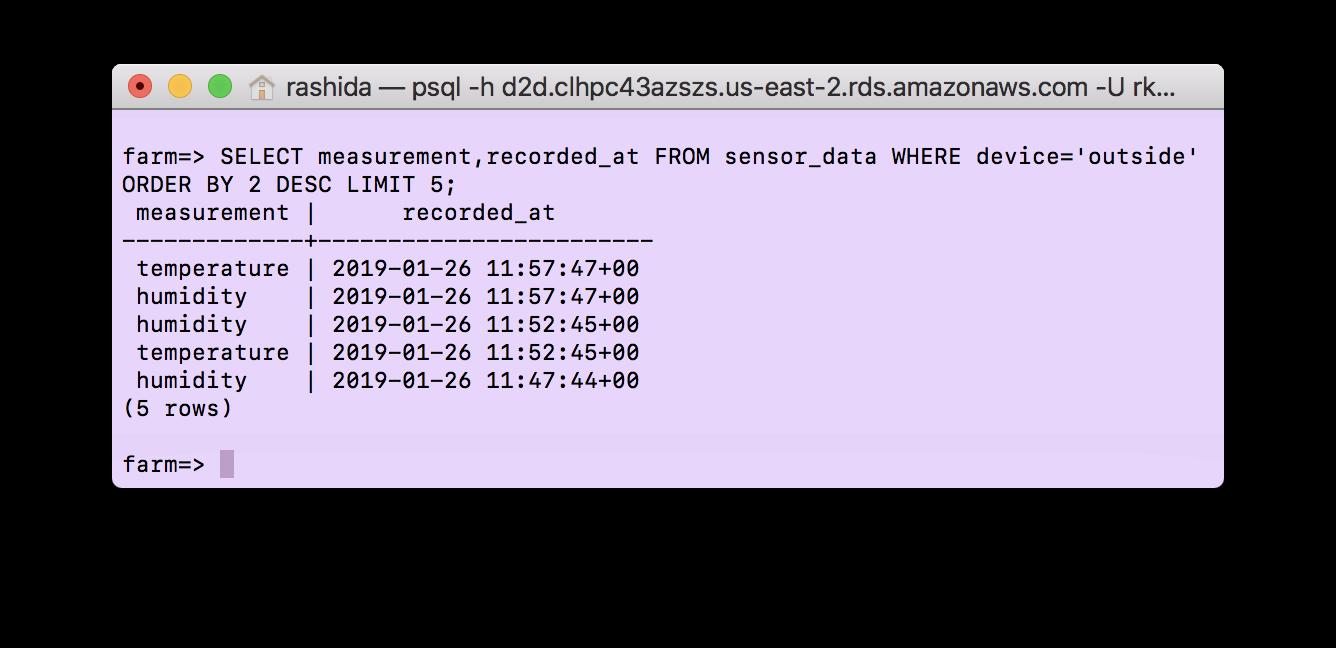 Arduino to MQTT to SQL