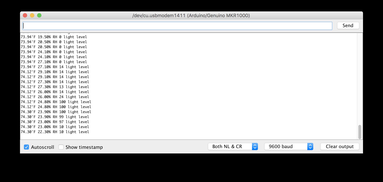 Sending Data over MQTT